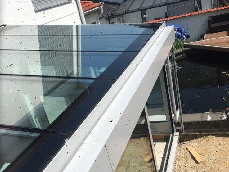 Wintergarten Dachverglasung sonnenschutz für wintergartendach isolierglasrollo iso roll im